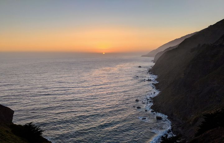 The sunset from Ragged Point